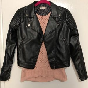 H&M Faux Leather Biker Jacket NWOT